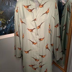 Zara Hummingbird Blouse.